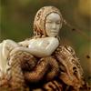 Резьба, бивень мамонта, миниатюра Дракон и Нимфа