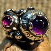 Кольцо с турмалинами и аметистом